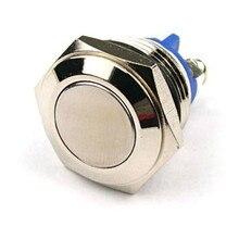 16 мм антивандальный мгновенный стальной металлический кнопочный переключатель плоский верх Универсальный Автомобильный мото-Стайлинг 250 В Универсальный дропшиппинг
