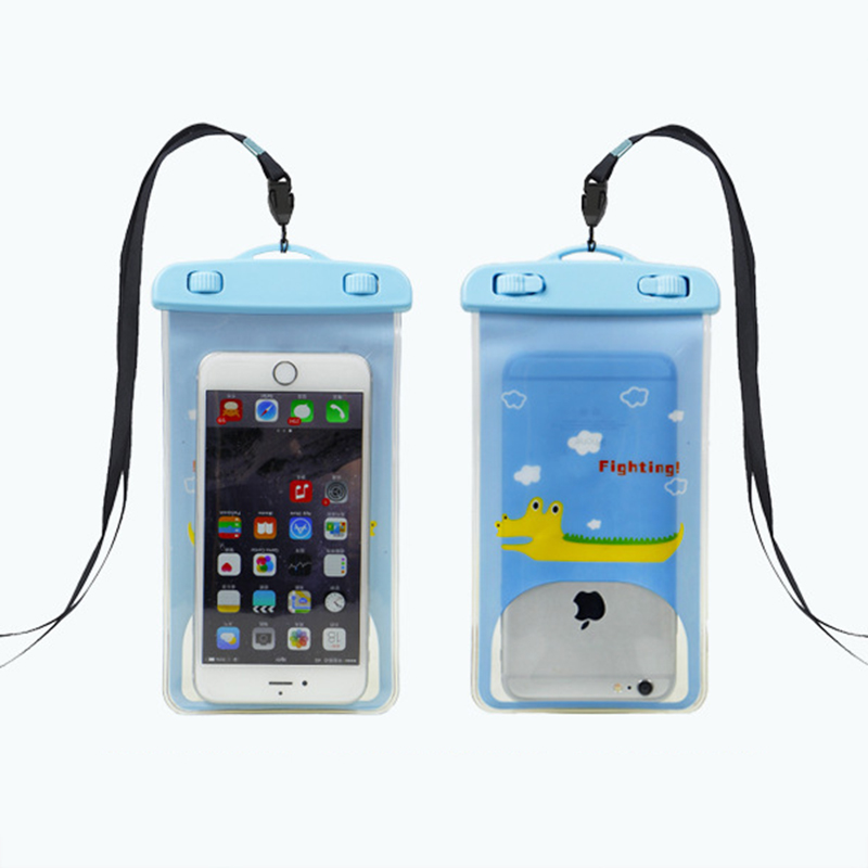 Cartoon Cute Waterproof Bag Mobile Phone Pouch Underwater Dry Case Cover For Canoe Kayak Rafting Swimming Drifting