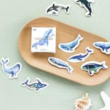 45 pcs/box Kawaii ocean whale paper sticker decoration DIY diary scrapbooking childrens favorite stationery