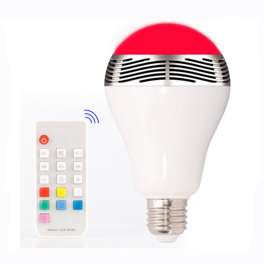 RGB LED Bulbs Wireless Bluetooth Speaker Audio Speaker,E27 Remote Control Music Playing & Lighting Smartphone APP Control portable professional 2 4g wireless voice amplifier megaphone booster amplifier speaker wireless microphone fm radio mp3 playing