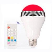 RGB LED Bulbs Wireless Bluetooth Speaker Audio Speaker,E27 Remote Control Music Playing & Lighting Smartphone APP Control
