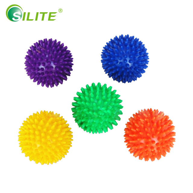 SILITE 7.5cm PVC Spiky Massage Balls Fitness Balls Crossfit Foot Muscle Pain Stress Relief Trigger Point Hedgehog Reflex Ball