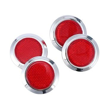 4 stücke Marke Neue und Hohe Qualität Kreative Rot Chrom Auto Reflektierende Aufkleber Sicherheit Warnung Reflektor Selbst Klebstoff
