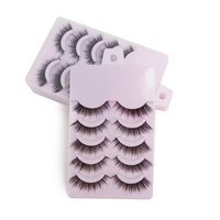 5 Pairs BES Mink Eyelash Extension Strip 3D Mink Eyelashes Extension Natural Soft False Eyelash Makeup False Eyelashes Silk Lash