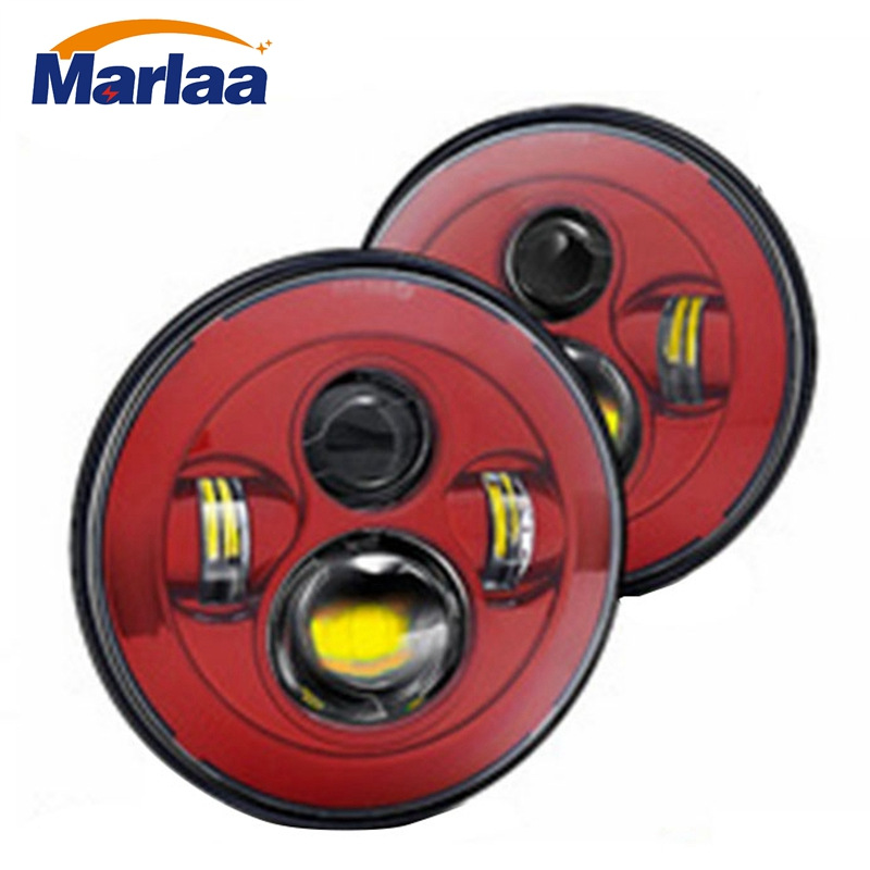 Marlaa 2pcs For Land Rover Defender 90 110 7 projector headlamp 7inch LED Headlight for 1997