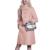 Recomendado Bens Gola POLO de Moda Longo Casaco de Lã das Mulheres Inverno 2016 Nova Rosa Único Breasted Inverno das Mulheres Casacos F675
