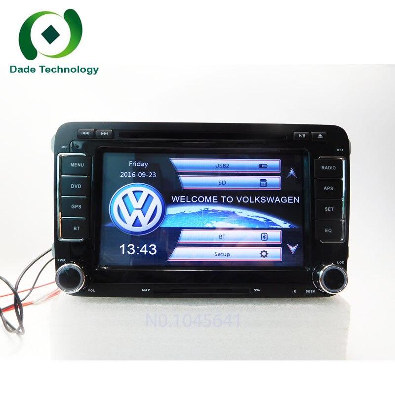 imágenes para 2 Din 7 Pulgadas de Coches Reproductor de DVD Multimedia Para VW/Volkswagen Passat/POLO/GOLF/Skoda/asiento/Leon Con Mapas Navigaiton GPS IPOD RDS FM