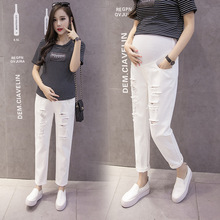 Maternity Pants Maternity Jeans  Clothes For Pregnant Women Trousers Nursing Prop Belly Leggings Jeans Pregnancy Clothing Pants недорого
