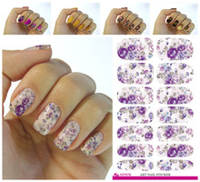 Fashion Nails Art Sticker Colored Bright Crystal Design Nail Sticker Manicure Decor Tools Nail Wraps Decals K629