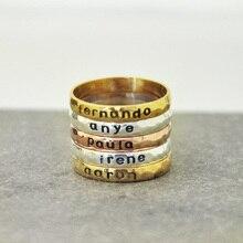 Персонализированные Стекируемые Имя Кольцо, персонализированные Укладки Кольцо, стекируемые Кольцо, имя Кольцо, пользовательские Ювелирные Изделия Подарок для Нее