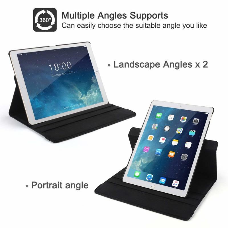 Funda Case Apple Auto-Awake-Cover Coque 360-Degree iPad Smart-Sleep for Rotating-Leather