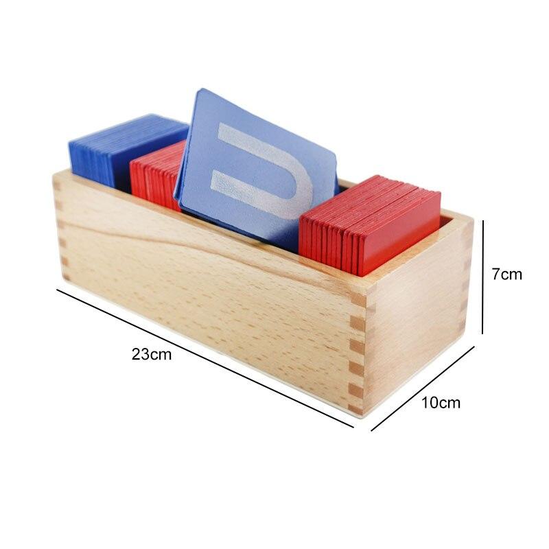 Montessori Matériaux Sensorielles Sable Papier Lettre Carte Montessori Jouet Éducatif 3 Ans En Bois Jouets Pour Enfants UC1766H - 6