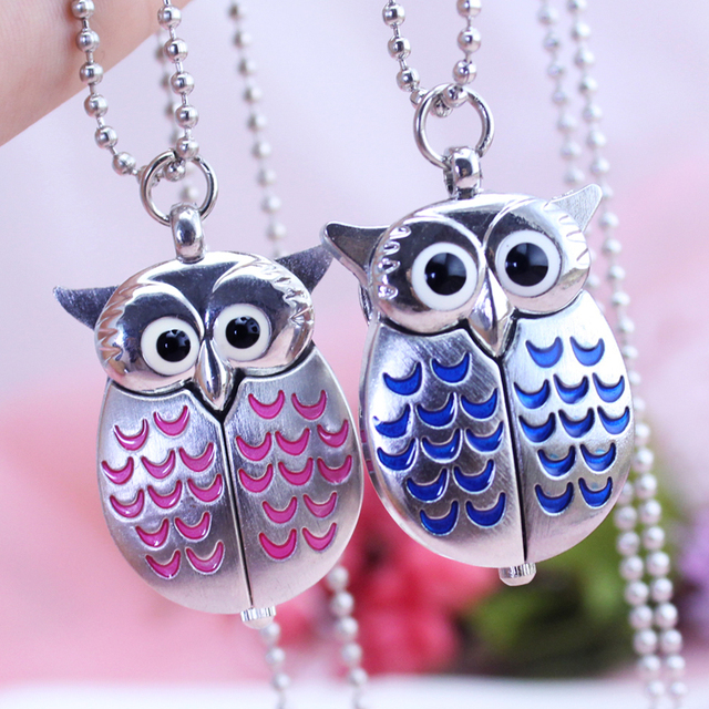 2018 CYD new brand watch women girls kids ladies quartz pocket watch owl animal