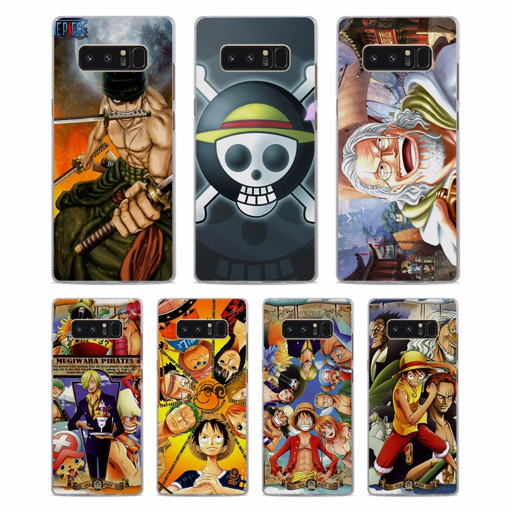 MOUGOL One Piece anime luffy Pattern Clear hard Phone Case Cover for Samsung Note5 Note8 S8 S8Plus S6 S7 edge s5