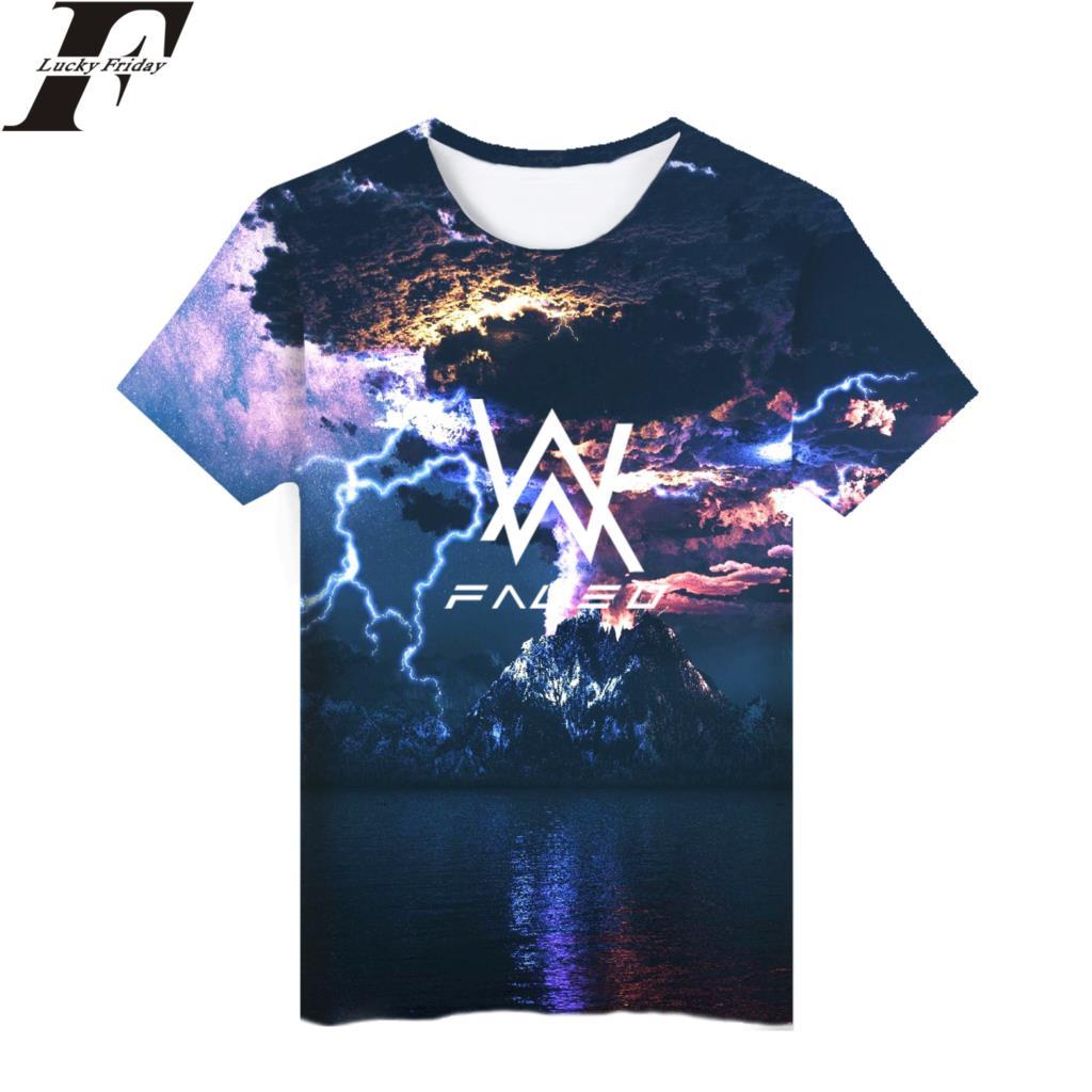 T-shirts Alan Walker 3d Short Sleeve Fashion T-shirt Hip Hop Style T-shirt Short Sleeve Man/women Cotton Clothes Plus Size Tops & Tees
