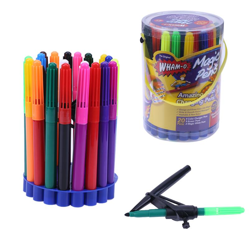 20Pcs/set Water Wham O Color Changing Pen Washable Non-toxic Magic Pens School Office Supplies Kids Drawing Painting Accessories