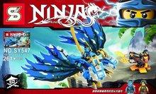 SY547 Ninjagoes Phantom Ninja Blue Jakiro Dragon Minifigures Building Block Minifigure Compatible with Legoe