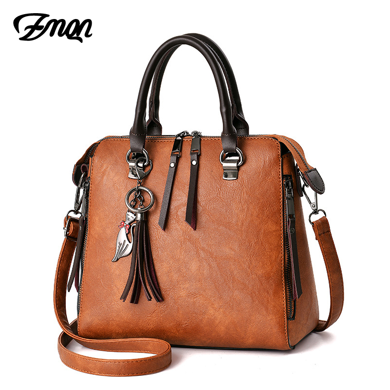 Shoulder Bags Women Leather Designer Handbags Ladies Hand Crossbody Bag For Women Famous Brand Vintage Fringed Zipper Shell C619 vintage fringed solid color denim skirt for women