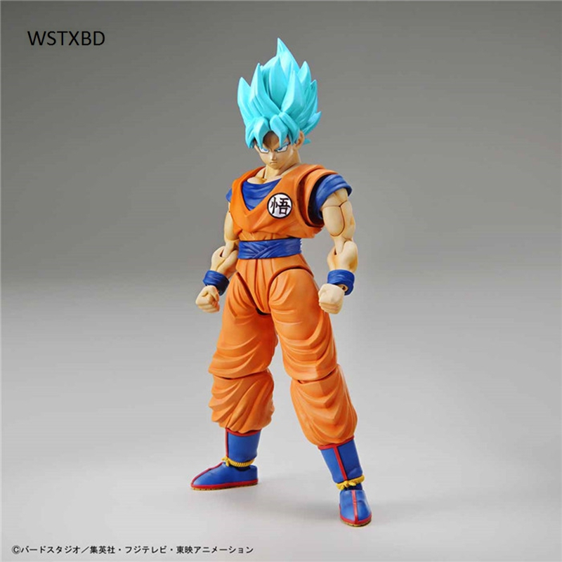 WSTXBD Original Dragon ball Z Figure-Rise SSJ God Blue Goku PVC Figure Toys Figurals Model Kids Dolls new original dragon ball z dbz blue god vegetto final pvc figure toys figurals model kids dolls