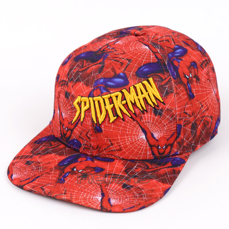 2017 New Fashion Brand Spiderman Baseball Cap Hats For Men Boys Casual Hip Hop Snapback Caps new 2017 hats for women mix color cotton unisex men winter women fashion hip hop knitted warm hat female beanies cap6a03