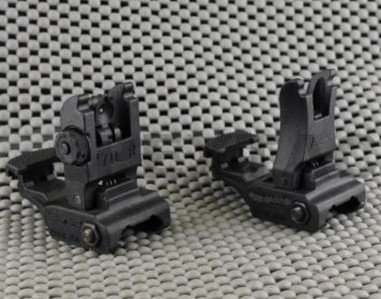 Style 71 Tactical Rail Mount Flip Up Polymer Bezienswaardigheden Set - Jacht