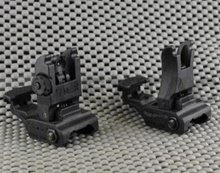 Style 71 Tactical Rail Mount Flip Up Polymer Sights Set - Black