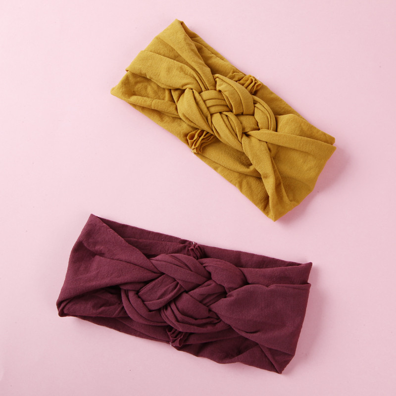 Chinese Knot Sailor Knot Nylon Headbands, Braided Nylon Headwraps, One Size Fits Most 27 Colors