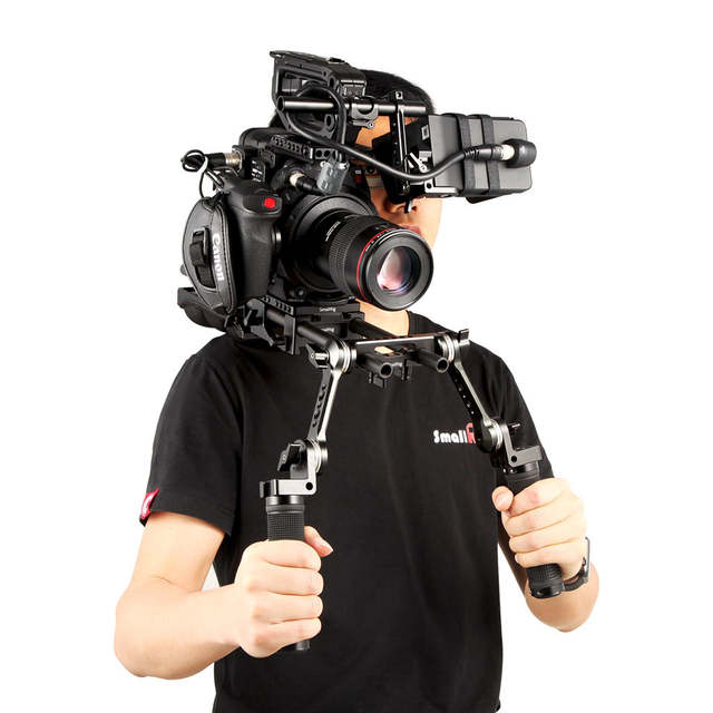 US $69 99 30% OFF|SmallRig 360 degree EVF Support for Canon C200 Monitor  With a 15mm Rod and a NATO Rail 2075-in Tripod Monopods from Consumer