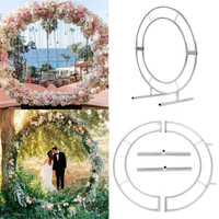 Circle Arch Framework Metal Round Wedding circle mesh Party Backdrop Outdoor Indoor wedding props and supplies Birthday gift