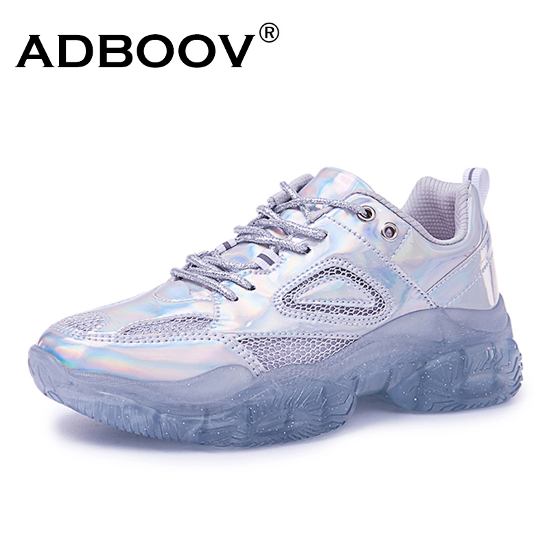 ADBOOV Chunky Sneakers Women Breathable Platform Sneakers Red Silver Trainers Shoes Woman Zapatillas Mujer Deportiva PlataformaADBOOV Chunky Sneakers Women Breathable Platform Sneakers Red Silver Trainers Shoes Woman Zapatillas Mujer Deportiva Plataforma