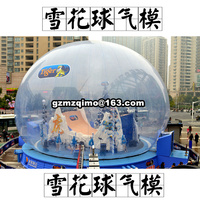 big inflatable snow globe, inflatable snow ball, inflatable transparent globe for photo shooting, exhibition clear tent