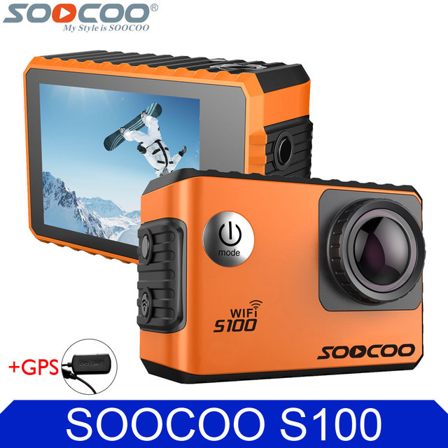 Original SOOCOO S100 4K Wifi Action Video Camera Gyro Stabilizer 30m Waterproof Diving Outdoor Mini Sports DV with GPS Extension