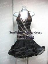 Girl Latin Dance Dress rumba samba Clothing Salsa Dresses Girls Stage Wear Costumes latin dance dress,Sunflower dance dress