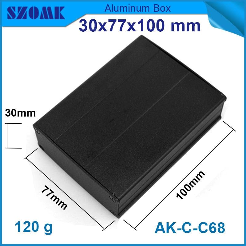 1 sztuka czarny anodowanie szafka aluminiowa diy elektryczny obudowa z powłoką proszkową 30*77*100mm w Złącza od Lampy i oświetlenie na title=
