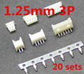 Micro JST 1.25mm T-1 3-Pin Straight Connector Plug Female ,Male x 20 Sets