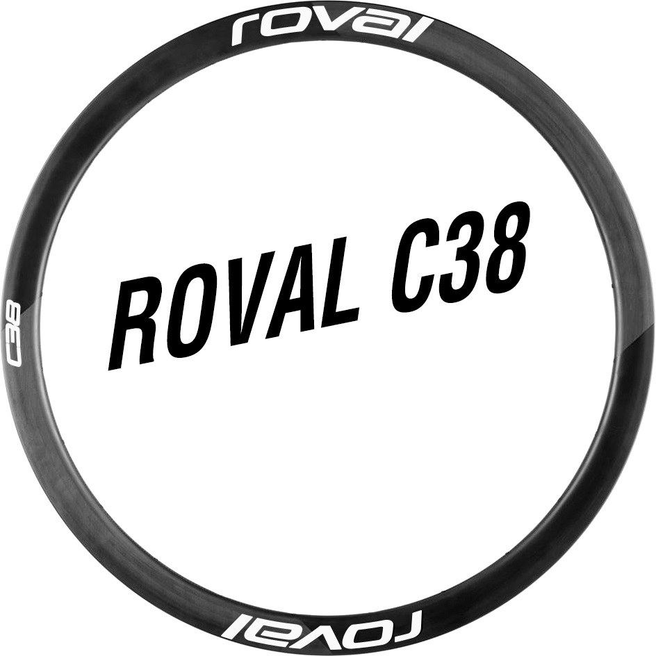 Roval  C38 DISC Brake Wheel Sticker for two Carbon Wheels  Road Bike Race Cycling Decals|Bicycle Stickers| |  - title=