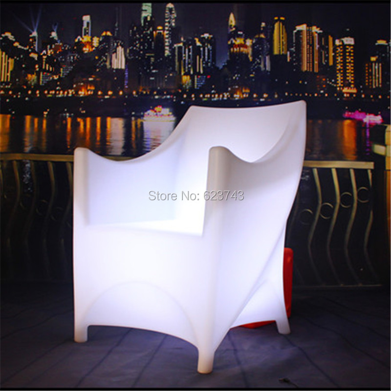 plastic glowing led armchair armrest backrest
