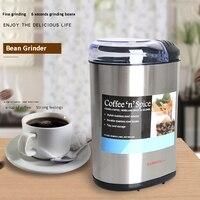 커피 콩 그라인더 스테인레스 스틸 상업 분쇄기 가정용 전기 이탈리아어 작은 분쇄기 연삭 기계 220-240 v 200 w