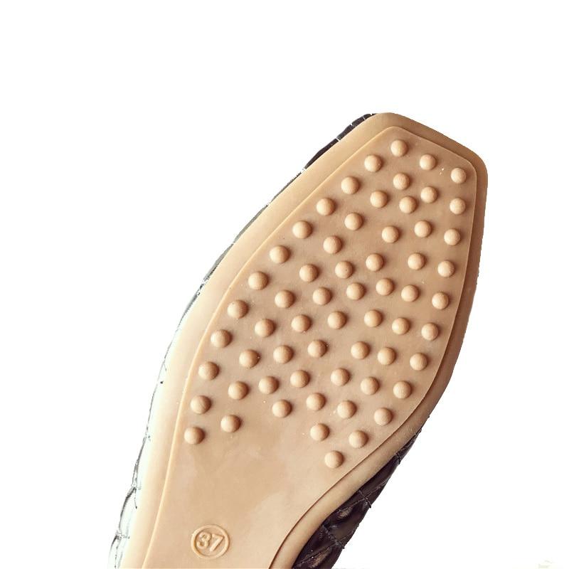 Doux 2018 Simples De Zh2835 La Printemps Taille 9 Flats Noir Femmes Plus Chaussures gris Élégant Été or Nouveau YnwxU00