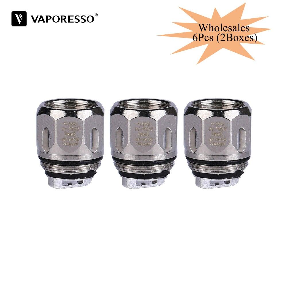 6Pcs Original Vaporesso Coil GT CCELL GT4 GT8 GT2 GT6 GT1 Vape Coil Head For NRG Tank NRG SE Atomizer E cigarette Revenger Coil(China)