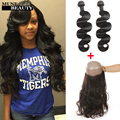 360 Lace Frontal Closure With Bundles Brazilian Body Wave With Closure Rosa Hair 10A Brazilian Human Hair Bundles With Closure