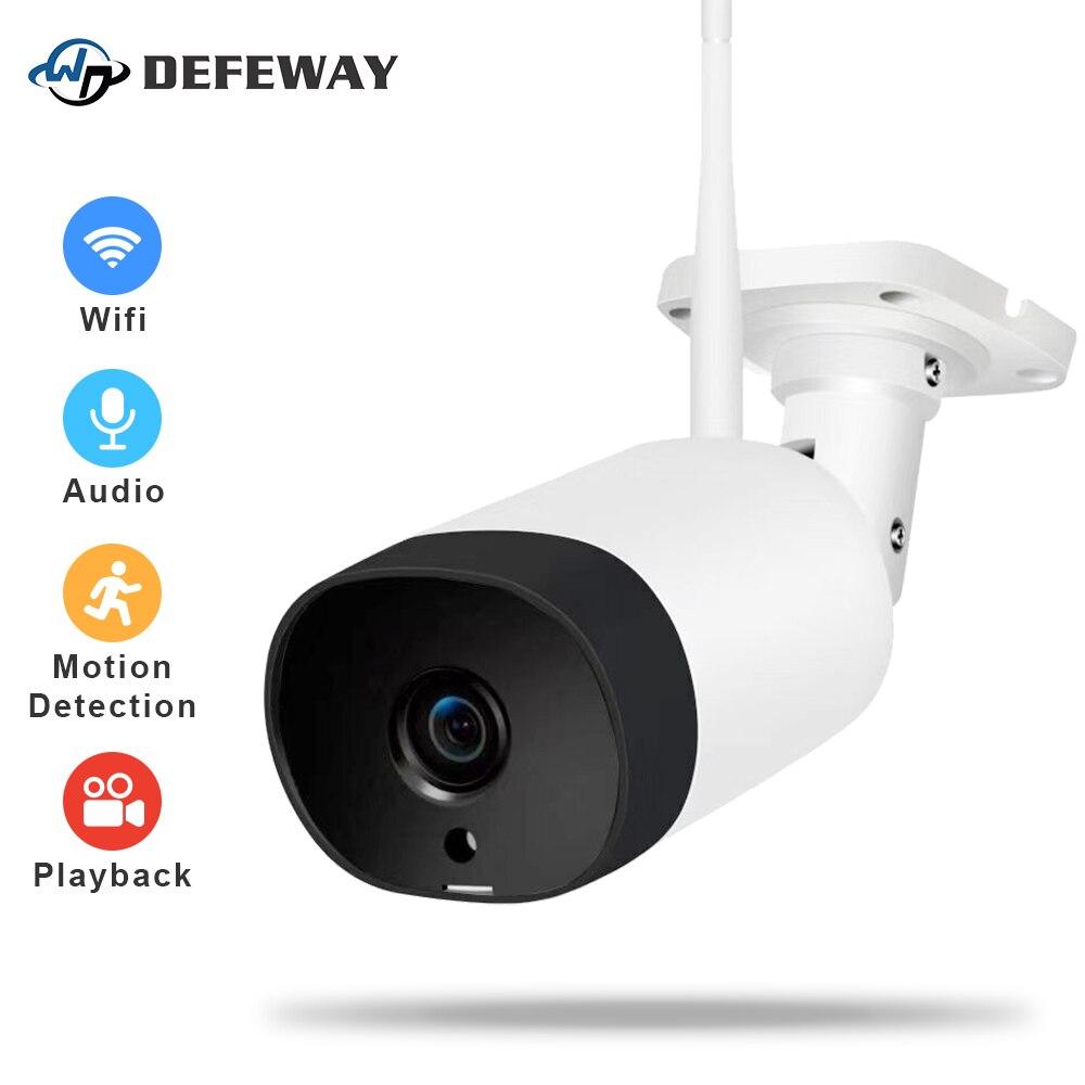 DEFEWAY Outdoor WiFi Security Bullet Camera IR LED Night Vision IP Camera IP66 Weatherproof Video Surveillance Outdoor Camera