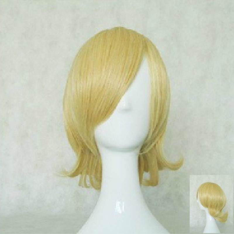 HAIRJOY Synthetic Hair Short Blonde Vocaloid Kagamine Rin Cosplay Wig High Temperature Fiber Free Shipping 3 Colors Available 17