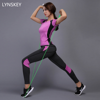 LYNSKEY Women Yoga Set Gym Fitness Clothes Tennis Shirt Pants Running Tights Jogging Workout Yoga Leggings