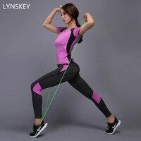 LYNSKEY Women Yoga Set Gym Fitness Clothes Tennis Shirt Pants Running Tights Jogging Workout Yoga Leggings