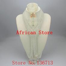 Nowy czarny zestaw biżuterii ślubnej kryształ zestaw koralików wdzięku afryki zestaw biżuterii ślubnej dla kobiet Party biżuteria ustaw darmowa wysyłka J401-6 tanie tanio Moda Zestawy biżuterii TRENDY yeahmi Ze stopu cynku Necklace Bracelet earrings Kobiety Naszyjnik kolczyki bransoletka Okrągły