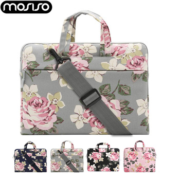 MOSISO Loptop 11 13.3 14 15.6 inch Canvas Zipper Shoulder Bag for Macbook Air Pro 13 15/DELL/Asus/Acer/HP Notebook Accessories
