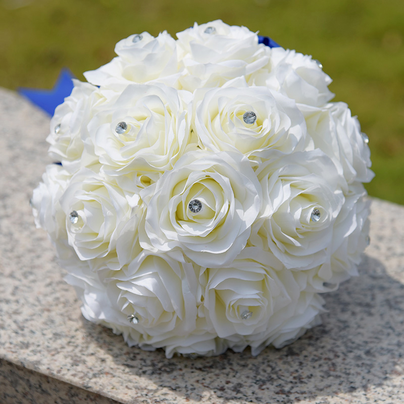 Inexpensive Flowers For Wedding Bouquets: NZUK 2018 New Bridal Bouquet Wedding Artificial Flowers