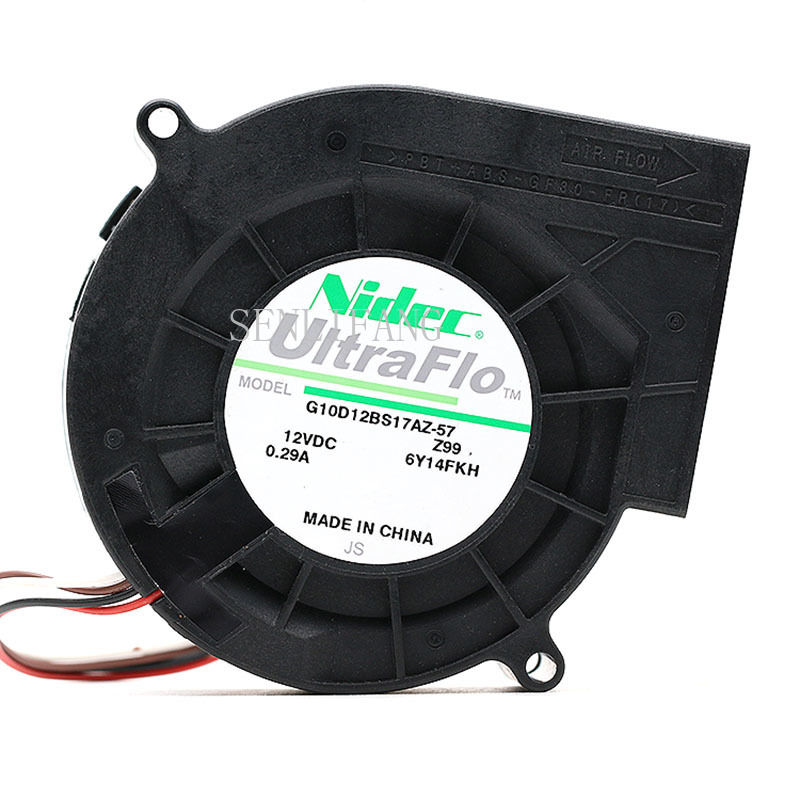 Free Shipping NIDEC Original G10D12BS17AZ-57 12V 0.29A 9733 4-wire PWM Turbo Cooling Fan