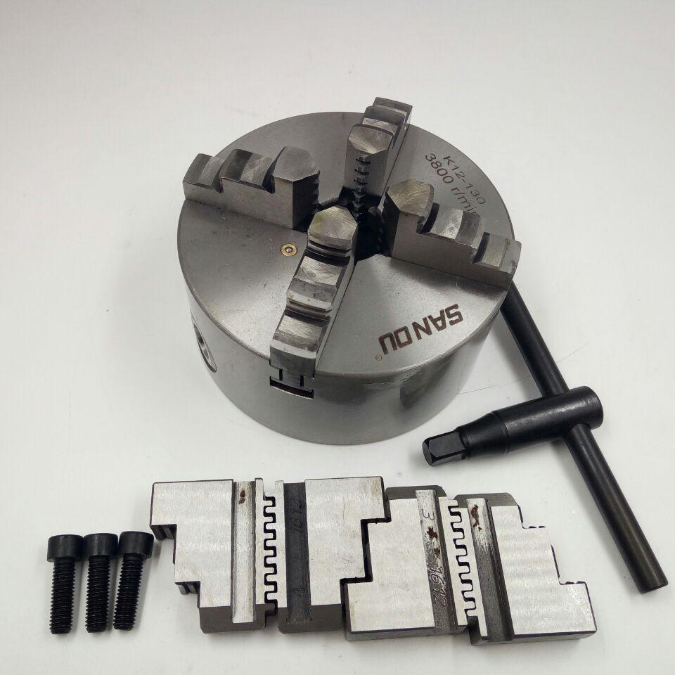 цена на LATHE Chuck CNC4 Jaw Self-Centering 5 K12-130 K12 130 Hardened Steel for Drilling Milling Machine